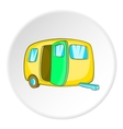 Yellow trailer icon cartoon style vector image vector image