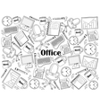Office colorless set vector image