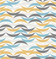Color waves seamless pattern Abstract background vector image