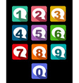 flat icons bubble conversation numbers with long vector image