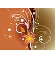 Abstract Brown Floral Background vector image vector image