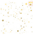 abstract pattern of random gold stars on white vector image vector image