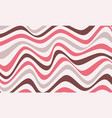 abstract wavy line art background vector image