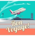 Airplane take off flat vector image vector image