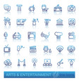 arts and entertainment icon set vector image vector image