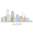 austin cityscape texas - city panorama austin vector image vector image