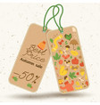 autumn price tags concept vector image