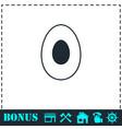 avocado icon flat vector image vector image