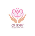 Beauty care logo template spa salon icon