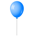 blue baloon vector image vector image