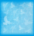 blue blurred background birds doves silhouettes vector image vector image