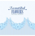 Blue flower seamless pattern vector image