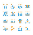 business and people with speech bubble icon set vector image vector image