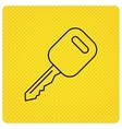 Car key icon Transportat lock sign vector image vector image