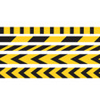 caution tape border vector image vector image