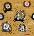 childish seamless pattern with hand drawn lions vector image vector image