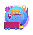 collaborative logistics abstract concept vector image vector image