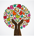 Concept design books tree vector image vector image