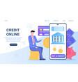 concept online credit vector image