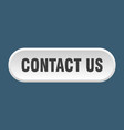 contact us button us rounded white sign vector image vector image