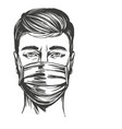 coronavirus is a dangerous disease a man vector image
