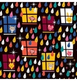 cute animals watching rain pattern 2 vector image vector image