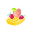 cute cartoon belgian waffle vector image