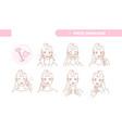 cute pretty girl take care face skin vector image vector image