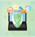 data protection antivirus internet security vector image