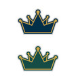 decorative crown logo template design eps 10 vector image