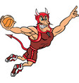devil sports basketball logo mascot vector image vector image