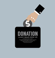 Donate Money To Charity Concept vector image vector image
