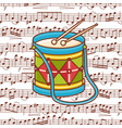 drum toy vector image