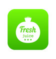 eco fresh juice icon green vector image