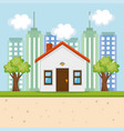 exterior house facade icon vector image