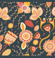 floral seamless pattern folk style vector image