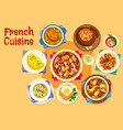 french cuisine healthy food icon for lunch design vector image vector image
