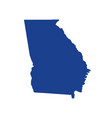georgia state map design vector image vector image