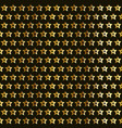 gold stars pattern vector image