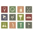 Golf simply icons vector image