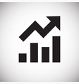 grow diagram icon on white background for graphic vector image