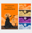 halloween holiday info graphic elements flat vector image vector image