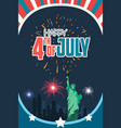 happy fourth july poster vector image