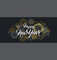 happy new year background with golden fireworks vector image vector image