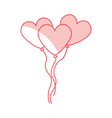 heart shaped party balloons vector image vector image