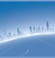 hong kong skyline aerial view vector image
