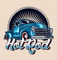 hot rod vintage car vector image