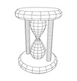 hourglass wire frame vector image