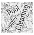 In Ground Pools Your Cleaning Options Word Cloud vector image vector image