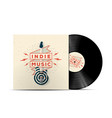 indie music vinyl disc cover mockup vector image